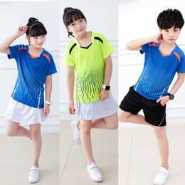 Girls Uniform Shirts Australia - Kids Youth Badminton Shirt Skirt Suit for boys girls Breathable Running Table Tennis Jersey Training Team Uniform Kit Sportswear