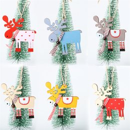 $enCountryForm.capitalKeyWord Australia - Woodiness Elk Pendants Coloured Drawing Christmas Tree Pendant Wear Resistant Originality Ornament Widgets New Pattern Popular 1 7jm J1