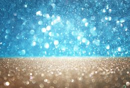 light painting photography NZ - Laeacco Light Bokeh Sun Rain Blue Sky Scene Bokeh Lawn Photography Backgrounds Customized Photographic Backdrop For Photo Studio