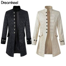 $enCountryForm.capitalKeyWord Australia - Adult Men Trench Coat Frock Velvet Outwear 2 Colors Solid Vintage Prince Overcoat Costume S-XXXL Long Coat Wind Breaker Y