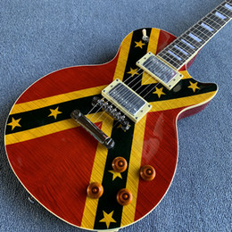 $enCountryForm.capitalKeyWord Australia - New style high-quality LP Standard electric guitar,Rosewood fingerboard,Flame maple The top of the flag Chrome hardware,free shipping1907