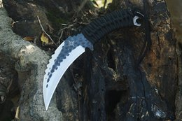 quality karambit knives Australia - High Quality Outdoor Survival Karambit Knife 440C Satin Blade Full Tang Paracord Handle Fixed Blade Claw Knives With Leather Sheath
