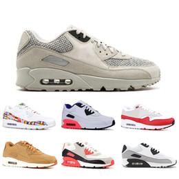 be60c2a86cf Nike air max 90 Großhandel 90 Luxus Designer Laufschuhe Herren Damen  Internationale Flagge infrarot Wesentliche dreifach schwarz weiß LTR Rosa  Sneaker Größe ...