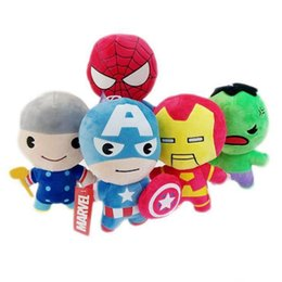 Chinese  The avengers Plush Toys Dolls 8inch 20cm Kids Super Heroes Captain America Iron Man Spiderman Hulk Soft Stuffed Toys for Children manufacturers