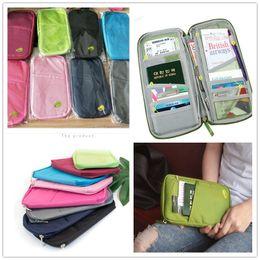 Travel TickeTs walleT online shopping - 8 Colors Passport Holder Card Slot Ticket Wallet Handbag ID Credit Card Storage Bag Travel passport Wallet Holder Organizer Purse Bag A22804