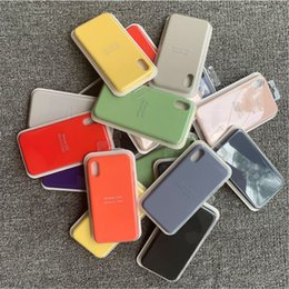 $enCountryForm.capitalKeyWord Australia - Original Have LOGO Silicone Case For iPhone 7 8 Plus Phone Silicon Cover For iphone X 6S 6 Plus For Apple Retail Box