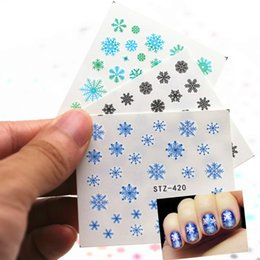 $enCountryForm.capitalKeyWord UK - 1Sheet Snowflake Smiling Face Cartoon Nail Art Sticker Set Black Lace Glitter Flower Water Decal Slider Wraps Decor Manicure N13
