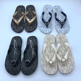 Flat slippers For ladies online shopping - Flip Flops Designer Brand Thong Sandals Beach Casual Slippers Teenagers Flip Flops Beach Style Shoes for Ladies Designer Shoes