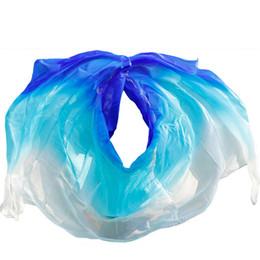 $enCountryForm.capitalKeyWord UK - silk quality women seidenschleier sexy belly dance veil scarf 100% authentic silk veil belly dance white+turquoise+royal blue