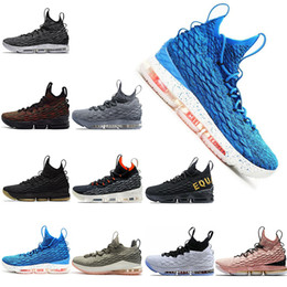 shoes size 12 man NZ - New Designer Shoes 15 Blue EQUALITY Black White Fashion Sneakers Breathable Basketball Shoe Men 15s EP Sports Trainers Men Size 7-12