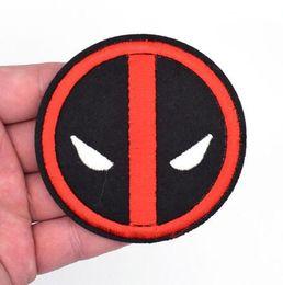 $enCountryForm.capitalKeyWord Australia - Deadpool Logo Dead Pool Embroidered Emblem punk rockabilly applique sew on iron on patch