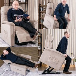 chair room NZ - Power Lift Chair Soft Fabric Recliner Lounge Living Room Sofa with Remote Control Decoration In Stock