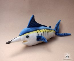 China Stuffed Marine Animals Dolls Real Life Plush Blue Marlin Doll Kids Toys Puzzle Gifts Rare Good Quality cheap real good toys suppliers