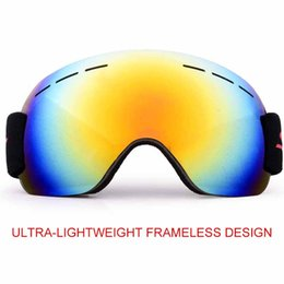 Discount climbing goggles - Ski Goggles Anti-Fog And Sand-Proof Large Spherical Glasses For Men And Women PC+ Three-Layer Sponge Adult Climbing Snow