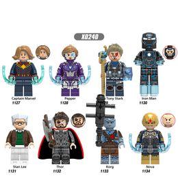 $enCountryForm.capitalKeyWord Australia - Building Blocks Super Heroes Captain Marvel Pepper Tony Stark Iron Man Stan Lee Figures For Children Gift Toys X0240