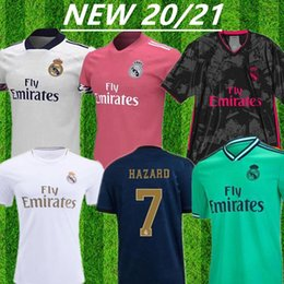 blue real madrid s soccer jersey Canada - REAL MADRID jerseys 20 21 soccer jersey HAZARD SERGIO RAMOS BENZEMA VINICIUS camiseta football shirt uniforms men 2020 2021