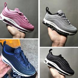 878ffc2ab6 Nike air max 97 With Box Kids 97 Chaussures de course pour formateurs  garçons Chaussure de jogging fille Chaussures de sport adolescente  Chaussures Jeunes ...