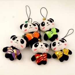 Discount panda cell phone charm - Creative Cell Phone Straps Cute Plush Tang Suit Panda Cell Phone Charms Chinese Style Features Small Gifts