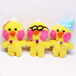 pure toys NZ - 12cm Cute little yellow duck doll red faced egg duck doll plush Pendant boy and girl toys holiday gifts