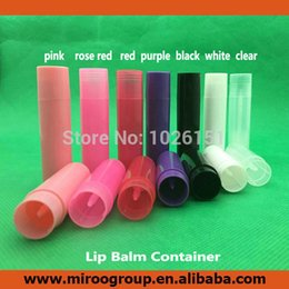 mixing lipstick NZ - FreeShip 200+2PCS 5ml 5g Empty Lipstick Tube, Lip Balm Tube, Lip Balm Stick Tube Container for DIY cosmetics, 7 colors to mix