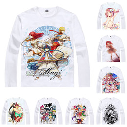 T Shirts Style Australia - Anime Shirt Magi The Labyrinth of Magic T-Shirts Multi-style Long Sleeve Aladdin Sinbad Cosplay Motivs Kawaii Shirts