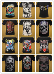 Wholesale pp shirts online – design Hip Hop D PP Men T Shirt Skulls Medusa Fashion Letter Short Sleeve Tops Tees Casual Man Tshirt Summer Gym Crew Neck T Shirts