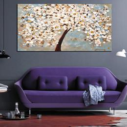 Çerçevesiz Tuval Baskılar Yağlıboya Zengin Ağacı Dekoratif Sanat Oturma Odası Duvar Dekor için Palet Bıçağı Boyama HD Kalite indirimde
