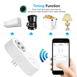 Remote Power Switches Australia - Wifi Smart Socket US Plug Wireless Home Switch Power Sockets Voice Remote Control by Smart Phone for Amazon Alexa Google TP-Link IFTTT