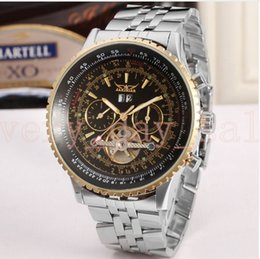 Watch 45mm Australia - Jaragar Tourbillon Relogio 45mm Automatico Masculino Watches Men Full Steel Wristwatch mens watch top brand luxury flywheel gift box