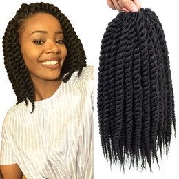 crochet pack NZ - Free shipping (3 Packs,12-18 inch) Havana Mambo Twist Crochet Hair Braids Senegalese Twist Crochet Braiding Hair Synthetic Hair Extension
