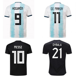 argentina l short NZ - 2019 Argentina national teams copa america Soccer Jerseys MESSI AGUERO DYBALA DI MARIA GOMEZ football Shirt Soccer uniform home away apparel