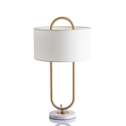 $enCountryForm.capitalKeyWord Australia - Modern Gold LED Bed Side Pedestal Table Lamps with Lampshade for Bedroom Living Room Art Deco