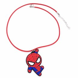 Discount chain necklace boys - 1Pcs Anime PVC Jewelry Necklace 50cm Rope Chain Little Boy Baby Kids Cartoon Necklace For Party Dress Up Birthday Gift