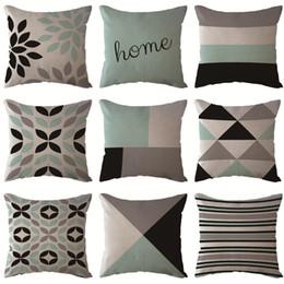 $enCountryForm.capitalKeyWord UK - Simple Nordic geometric cushion set square pillowcase polyester cushion cover sofa bed decorative pillow office decoration