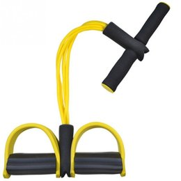 $enCountryForm.capitalKeyWord Australia - 4 Tube Sit Up Pull Rope Body Slim Foot Pedal Elastic Chest Pull Leg Latex Resistance Bands Sport Workout Bands Fitness Equipment