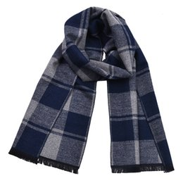 styling pashmina shawls Australia - 2019 Winter Thicker Imitation Cashmere Scarf Unisex Fashion Plaid Soft Warm Shawl Long Style Pashmina 30*180cm