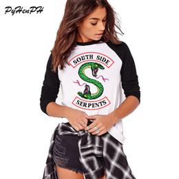 Lady T Shirts Full Australia - Southside Serpents Tshirt Women Full Sleeve Cotton T Shirt Harajuku Riverdale Design Ladies Casual Tshirt Autumn Cotton Tees S403