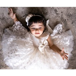 White Clothes For Baptism Australia - Cute Baby Girl Dress Floral Baptism Dress For Girls 1 Year Birthday Party Dress Christening Gown Infant Clothing Bebes Vestido Y19061001