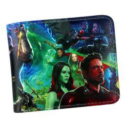 $enCountryForm.capitalKeyWord UK - designer wallet purse New Arrival Marvel Avengers Infinity War Captain America hulk iron Man black Panther Wallet Card Holder
