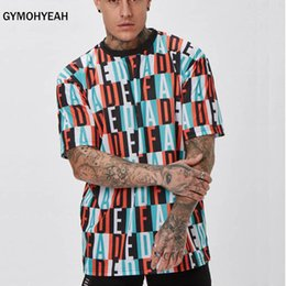 $enCountryForm.capitalKeyWord Australia - Quick dry compression Vertical Stripe Oversized Men's Tshirts Short Sleeve Summer New Korean Style Loose T-shirt Men Male Tee