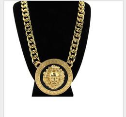 14k Gold Lion Head Pendant Australia - High-end fashion necklace of alloy Lion Head Pendant Necklace nightclub in Europe and America