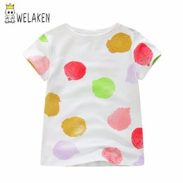 $enCountryForm.capitalKeyWord Australia - Baby Girl Clothes New Toddler T-shirt For Girls Color Dot Tops Fashionable Kids T-shirt For Boy Tops Children Tee