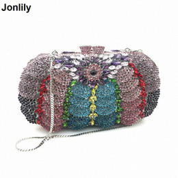 handmade vintage clutch bags 2019 - 2018 Vintage Fashion Handmade Diamond Evening Bag Women Clutch Bag Bride Wedding Party Purse Chain Bolso LI-1572 discoun