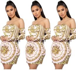 Strapless Cotton Maxi Australia - Fm6040 2019 Women's Clothes Printing Breasts Strapless Dress Nightclub 2019 new