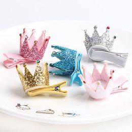 $enCountryForm.capitalKeyWord Australia - baby Crown hair clip Hot Sale Children New Hair Clips glitter stereo Cute princess Crown Barrettes Little Girls Gifts Kids Hair Accessories