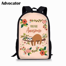 $enCountryForm.capitalKeyWord Australia - ADVOCATOR Cute Sloth Pattern Backpack for Teenager Kids Boys Girls Large Capacity Schoolbags for Students Shoulder Bags Mochila
