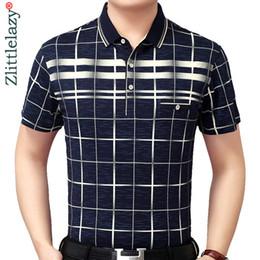 Mens Slim Fit Polos Australia - New Summer Polo Shirt Men Short Sleeve Polos Shirts Plaid Slim Fit Mens Pol Clothes Dress Bodybuilding Streetwear Poloshirt 1780 Q190525