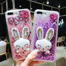Sand Iphone Australia - Mobile phone shell love sand quick mobile phone case high-grade drill rabbit bracket mobile phone protective cover For iphone Xs Max