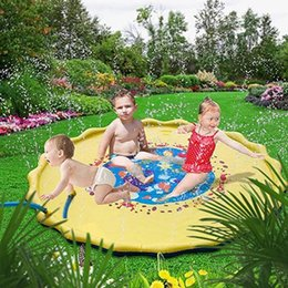 Wholesale 170cm Baby Kids water play mat Inflatable lawn toys infant Tummy Time Playmat Toddler Fun Activity Play Center water mat for babies