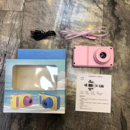 Wholesale Boxes Packaging Australia - C5 Children Camera Mini Digital Kids Camera Cute Cartoon Camera Toddler Toy Children Birthday Gift 2Inch Screen Cam with package box